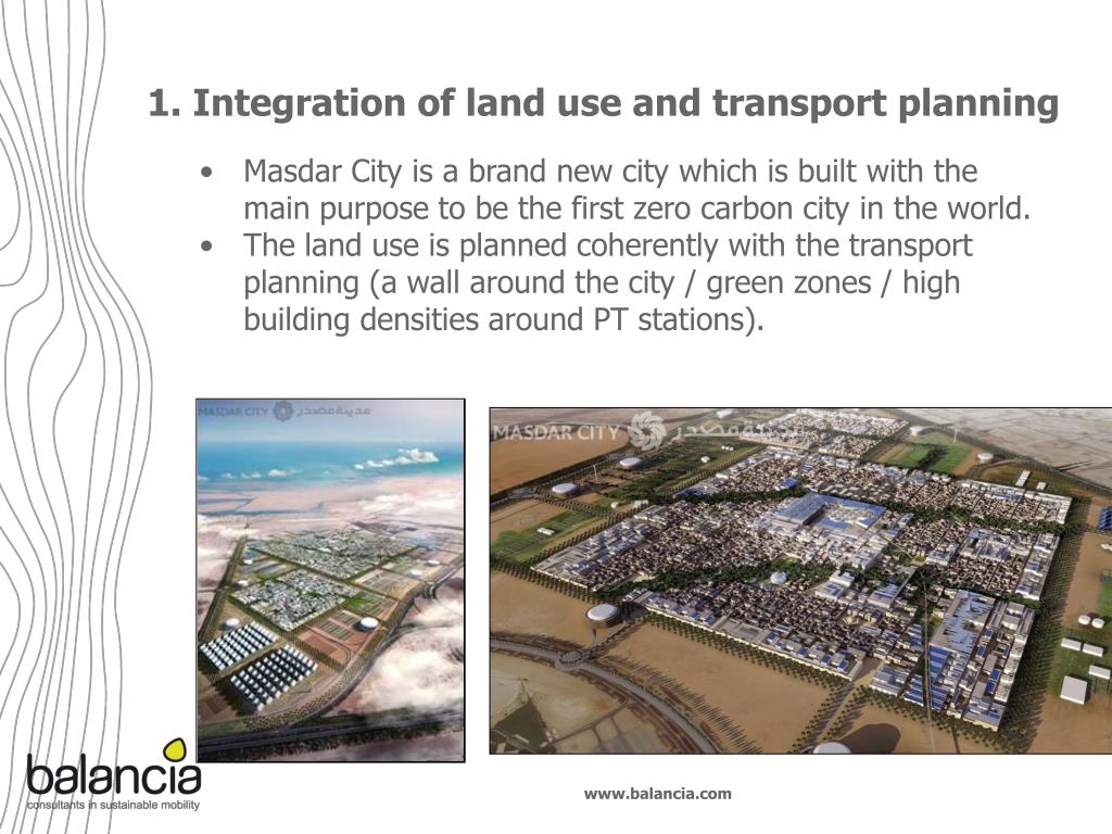 1. Integration of land use and transport planning