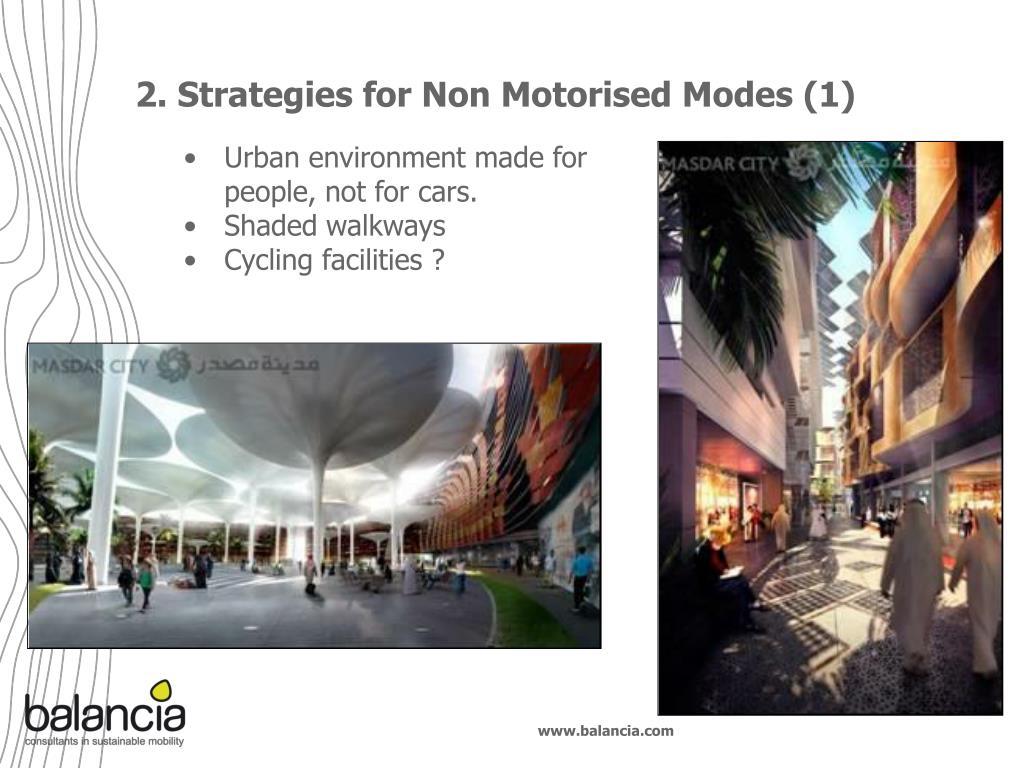 2. Strategies for Non Motorised Modes (1)