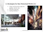 2 strategies for non motorised modes 1