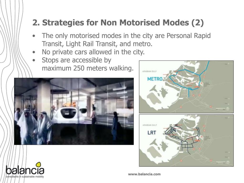 2. Strategies for Non Motorised Modes (2)