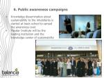 6 public awareness campaigns