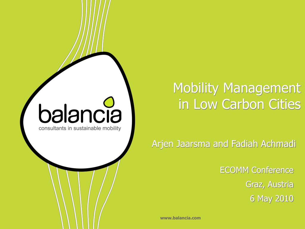 mobility management in low carbon cities l.