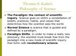thomas s kuhn s philosophy of science