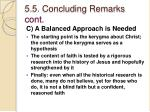5 5 concluding remarks cont