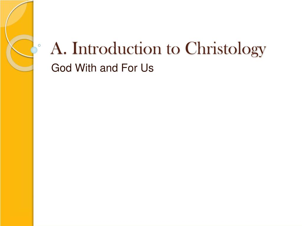 a introduction to christology l.