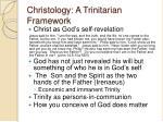 christology a trinitarian framework