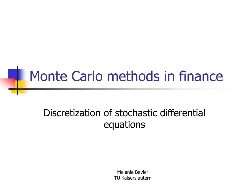 monte carlo methods in finance l.