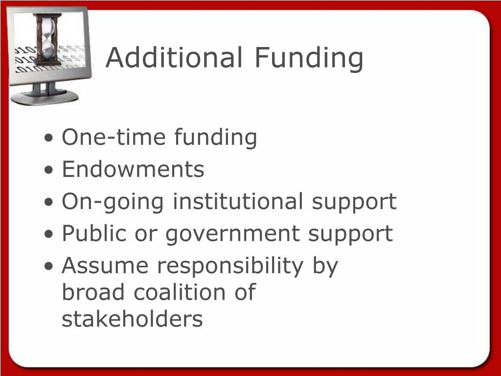 Additional Funding
