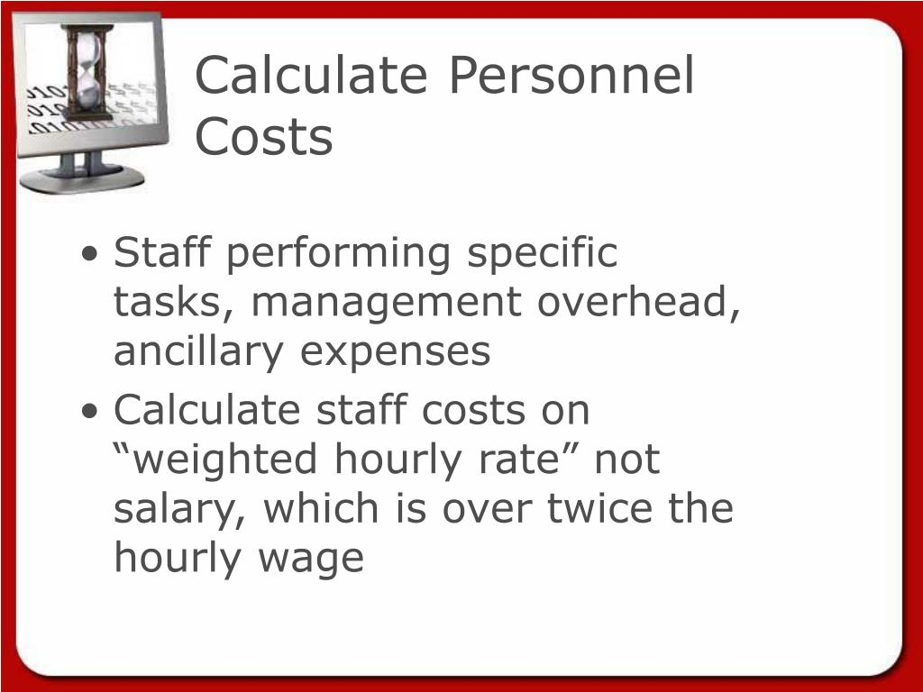 Calculate Personnel Costs