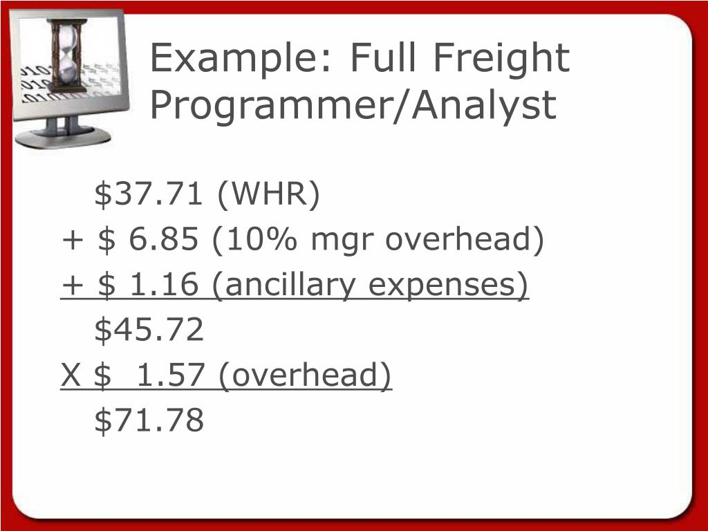 Example: Full Freight Programmer/Analyst