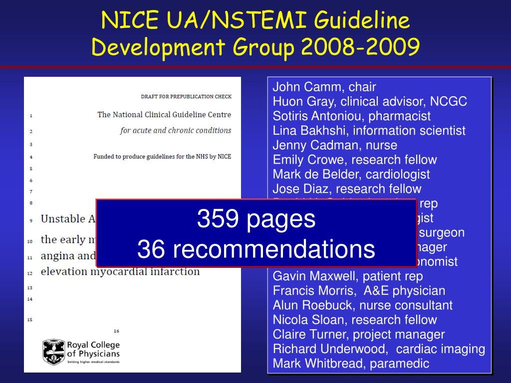 NICE UA/NSTEMI Guideline