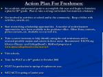 action plan for freshmen