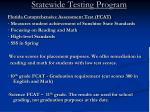 statewide testing program
