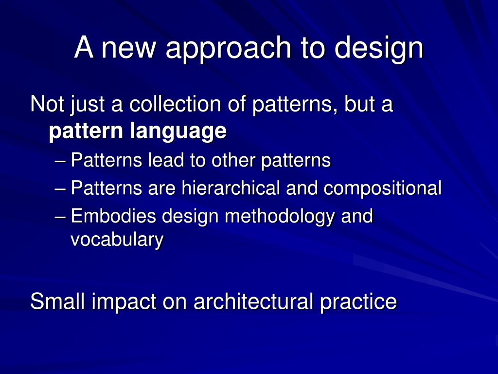A new approach to design