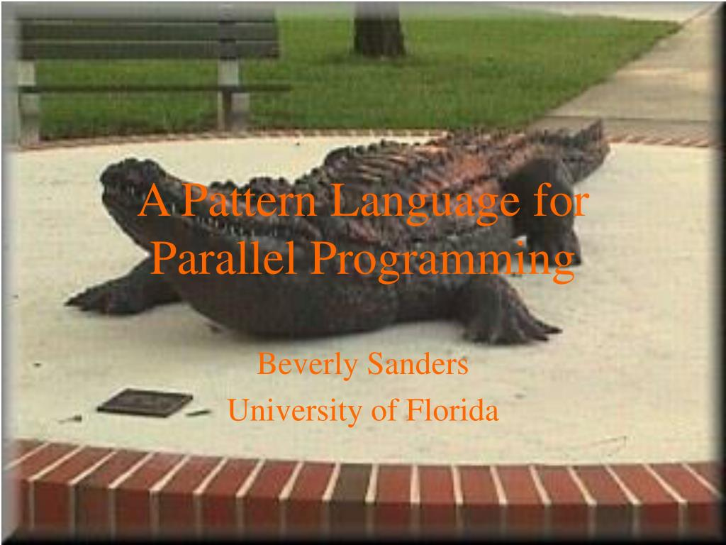 a pattern language for parallel programming l.