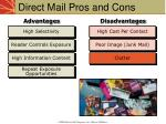 direct mail pros and cons