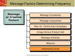 message factors determining frequency