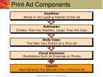 print ad components