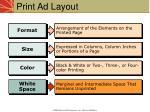 print ad layout