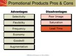 promotional products pros cons