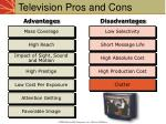 television pros and cons