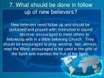 7 what should be done in follow up of new believers