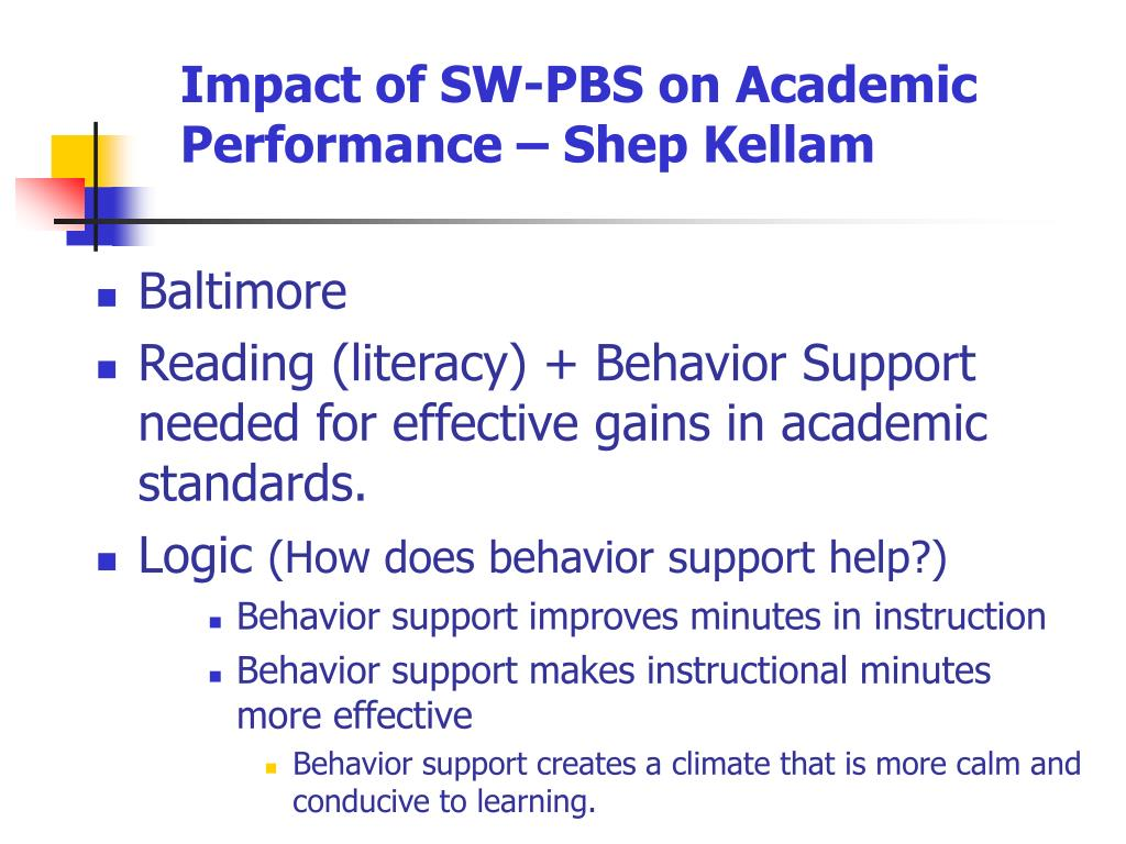Impact of SW-PBS on Academic Performance – Shep Kellam
