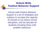 school wide positive behavior support