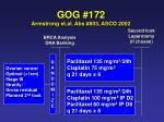 gog 172 armstrong et al abs 803 asco 2002