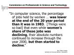 commission on professionals in science and technology