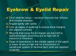 eyebrow eyelid repair