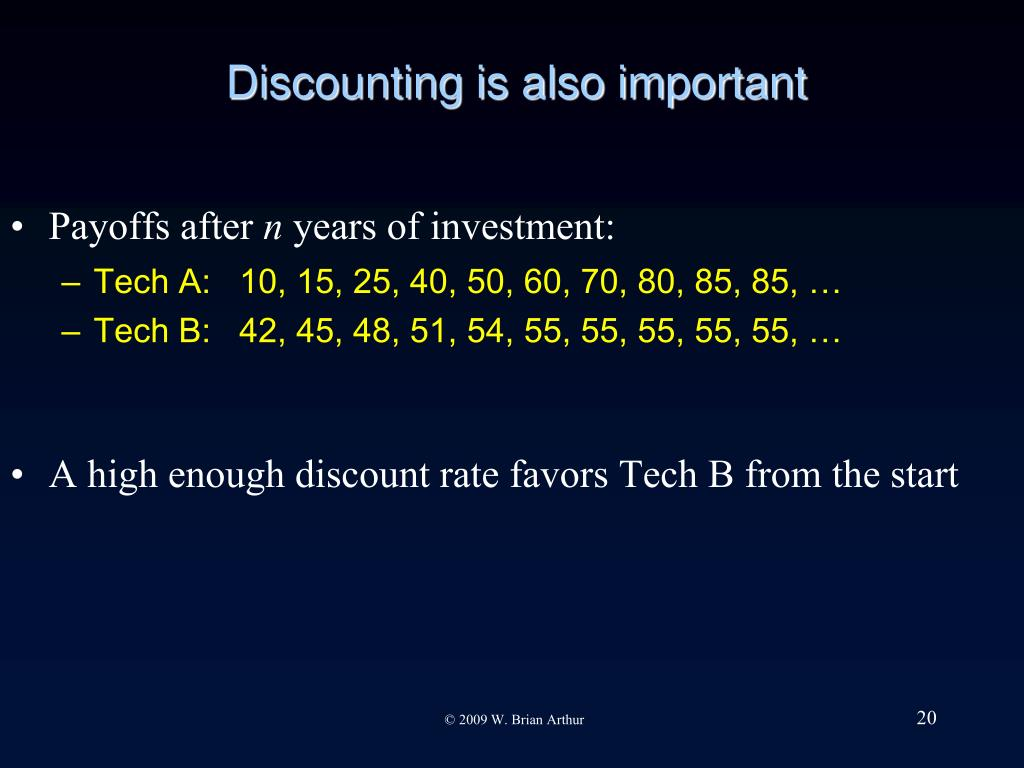 Discounting is also important