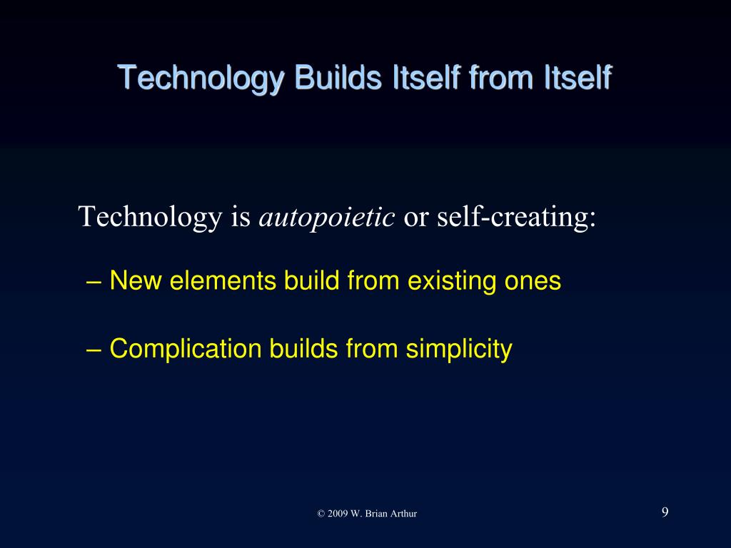 Technology Builds Itself from Itself