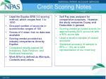 credit scoring notes
