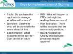 keys to implementation of scoring