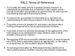 falc terms of reference