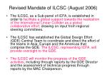 revised mandate of ilcsc august 2006