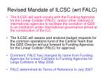 revised mandate of ilcsc wrt falc