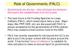 role of governments falc