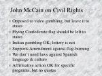 john mccain on civil rights