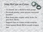 john mccain on crime