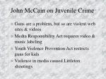 john mccain on juvenile crime