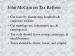 john mccain on tax reform
