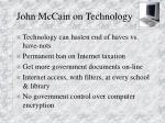 john mccain on technology