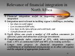 relevance of financial integration in north africa