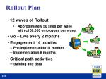 rollout plan