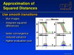 approximation of squared distances13