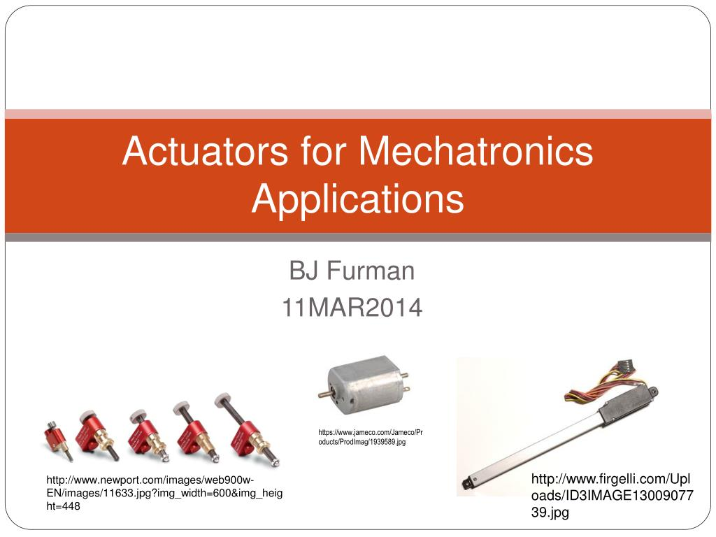 actuators for mechatronics applications l.
