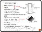 h bridge chips