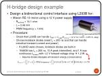 h bridge design example